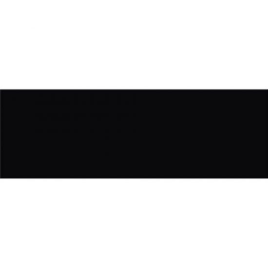 Płytka ścienna PRET A PORTER czarna błyszcząca 25x75 gat. I
