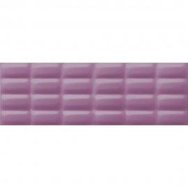 Płytka ścienna VIVID COLOURS fioletowa struktura pillow błyszcząca 25x75 gat. I