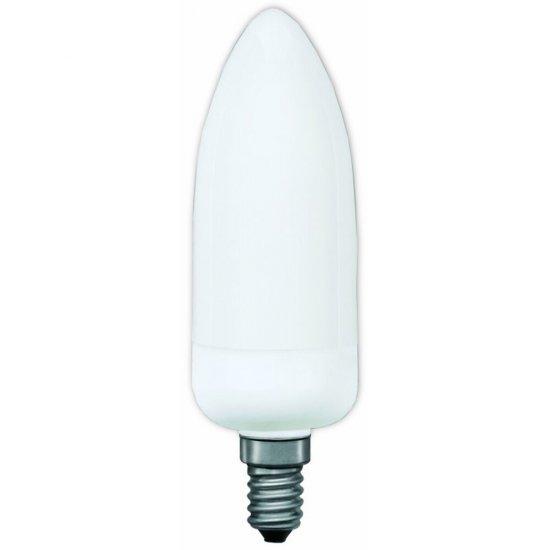 Świetlówka kompaktowa świecowa electronic E14 7W opal Paulmann