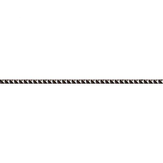 Płytka ścienna JAZZ srebrna listwa mat 1,8x59,3 gat. I
