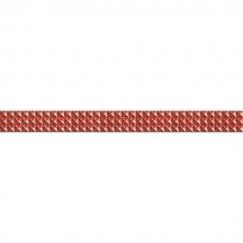 Płytka ścienna JAZZ czerwona listwa geo mat 5,4x59,3 gat. I