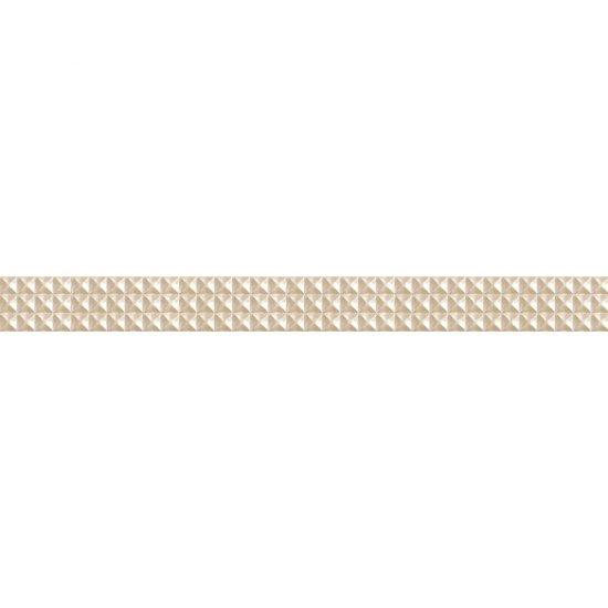 Płytka ścienna JAZZ kremowa listwa geo mat 5,4x59,3 gat. I