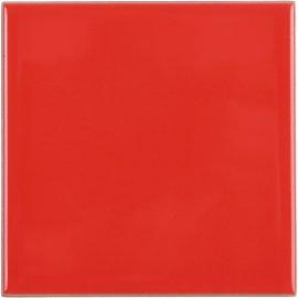 Płytka ścienna APLAUZ czerwona błyszcząca 10x10 gat. I