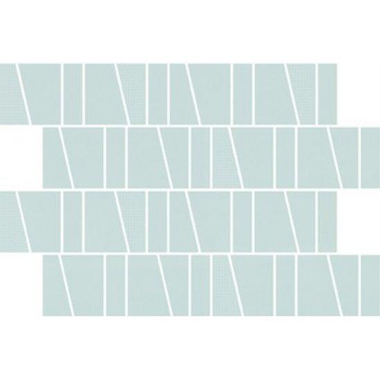 Płytka ścienna ZAMBEZI zielona mozaika trapeze mat 20x29,9 gat. I