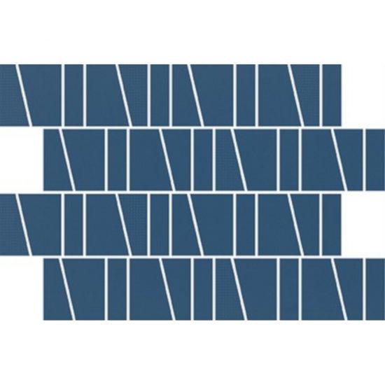 Płytka ścienna ZAMBEZI niebieska mozaika trapeze mat 20x29,9 gat. I