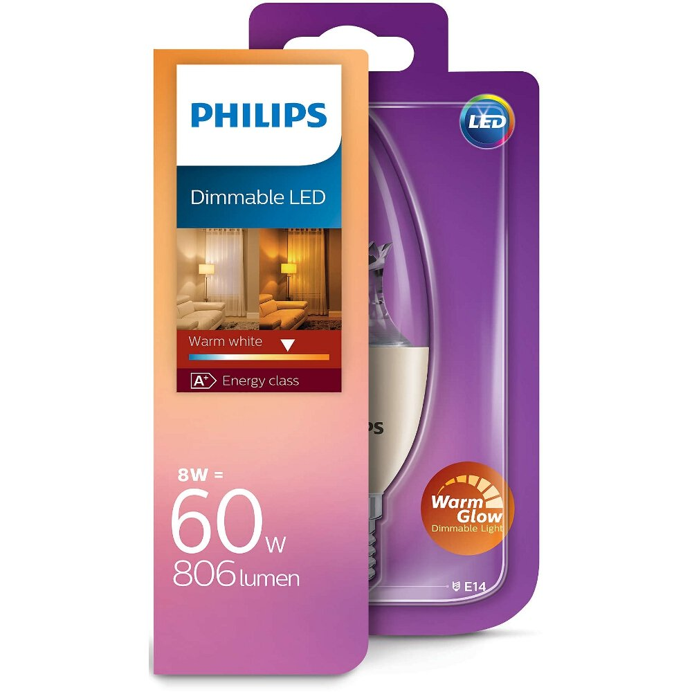 ar wka led 8 w 60 w e14 8718696555972 philips. Black Bedroom Furniture Sets. Home Design Ideas