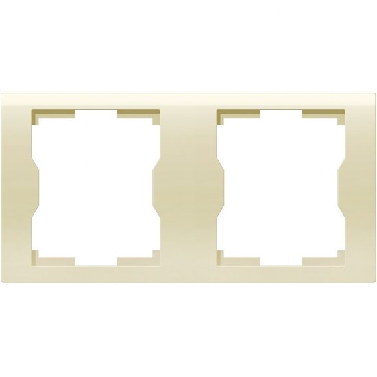 Ramka QUATTRO podwójna R 2H kremowy Elektro-plast N.