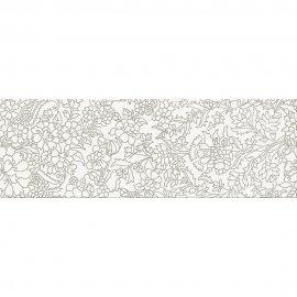 Płytka ścienna PRET A PORTER biała inserto kwiaty błyszcząca 25x75 gat. I