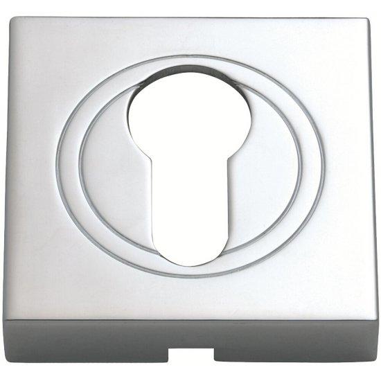 Szyld drzwiowy kwadratowy wkładka chrom PLT-23-Y-04-KW-SU Gamet