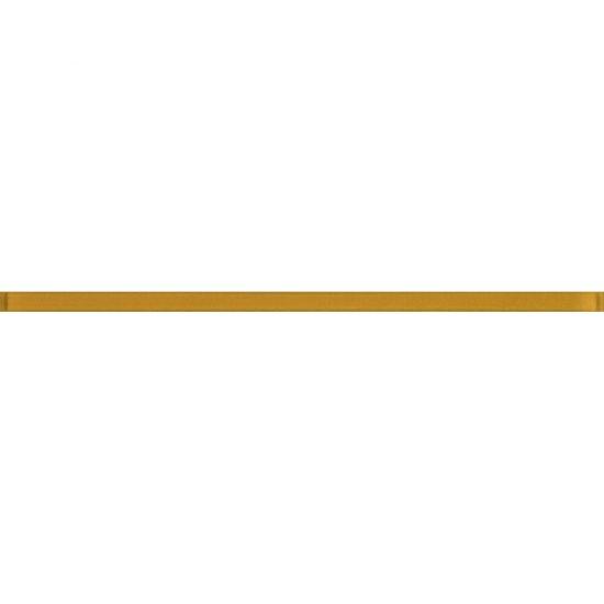 Płytka ścienna BIANCA żółta listwa szklana błyszcząca 2x60 gat. I