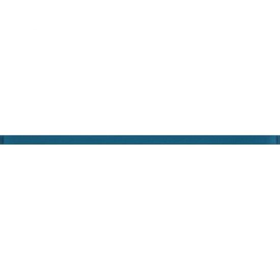 Płytka ścienna BIANCA niebieska listwa szklana 2x60 gat. I