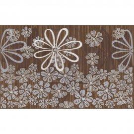 Płytka ścienna EUFORIA brązowa inserto kwiatek 3 mat 25x40 gat. I