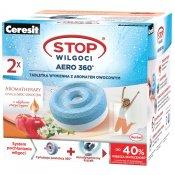 Tabletki wymienne CERESIT STOP Wilgoci AERO 360 Aromatherapy odżywcza moc owoców 2x450 g