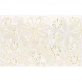 Płytka ścienna EUFORIA biała inserto kwiaty mat 25x40 gat. I