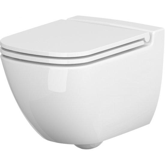 Miska WC podwieszana 741 CASPIA NEW deska duroplast antybakteryjna wolnoopad łatwe wypinanie