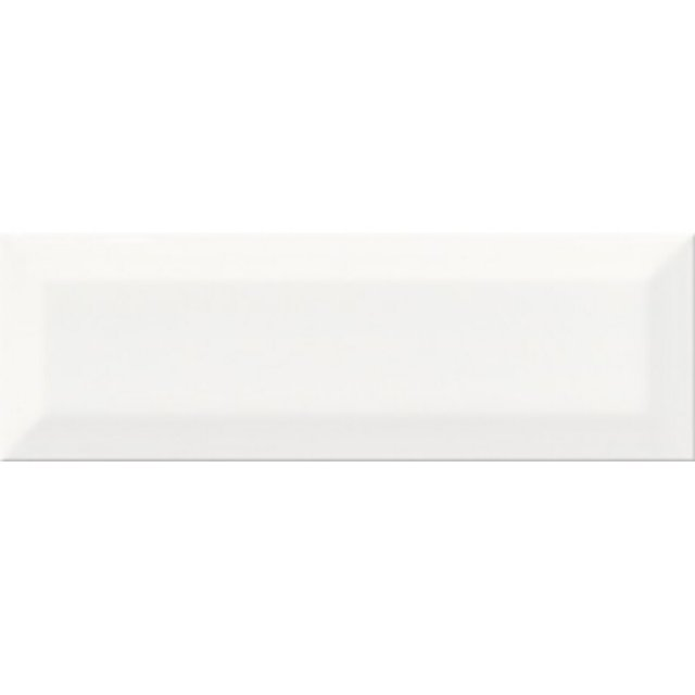 Płytka ścienna METRO STYLE biała struktura błyszcząca 10x30 gat. I