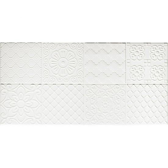 Płytka ścienna - dekor APARICHY biała błyszcząca 30x60 gat. I