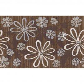 Płytka ścienna EUFORIA brązowa inserto kwiatek 1 mat 25x40 gat. I
