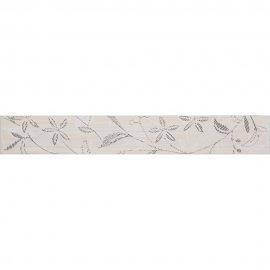 Płytka ścienna TANAKA kremowa listwa kwiaty mat 5x35 gat. I