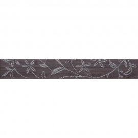Płytka ścienna TANAKA brązowa listwa kwiaty mat 5x35 gat. I