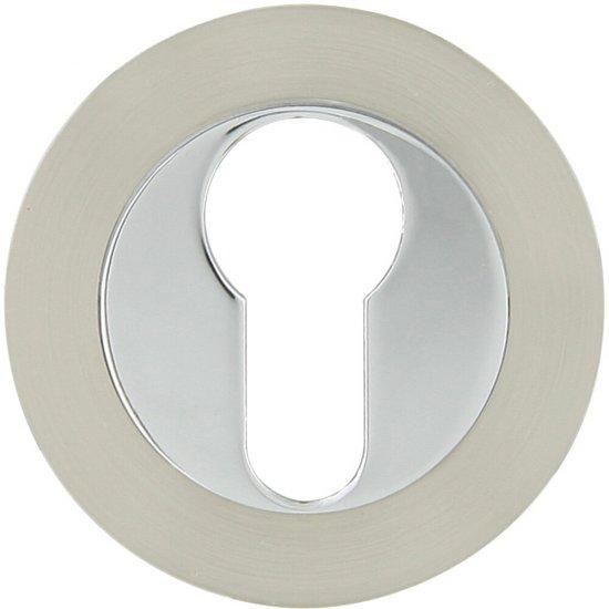 Szyld drzwiowy okrągły 950 wkładka bębenkowa chrom/nikiel Domino