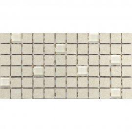 Gres szkliwiony KAROO kremowy mozaika mat 14,7x29,7 gat. I