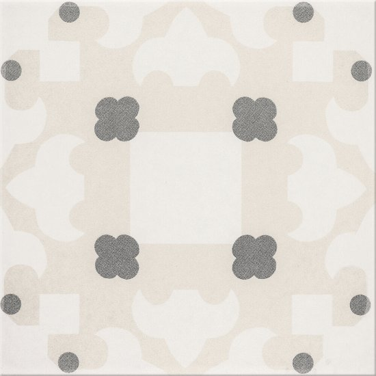 Gres szkliwiony BASIC PALETTE biały wzór C poler 29,7x29,7 gat. II
