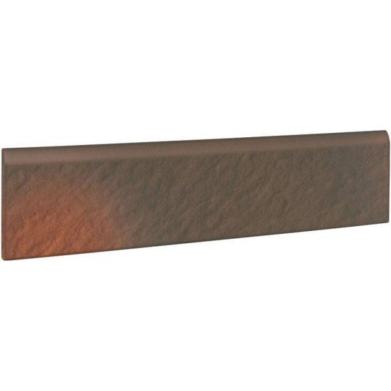 Klinkier SHADOW BROWN brązowy cokół struktura 3-D mat 8x30 gat. II
