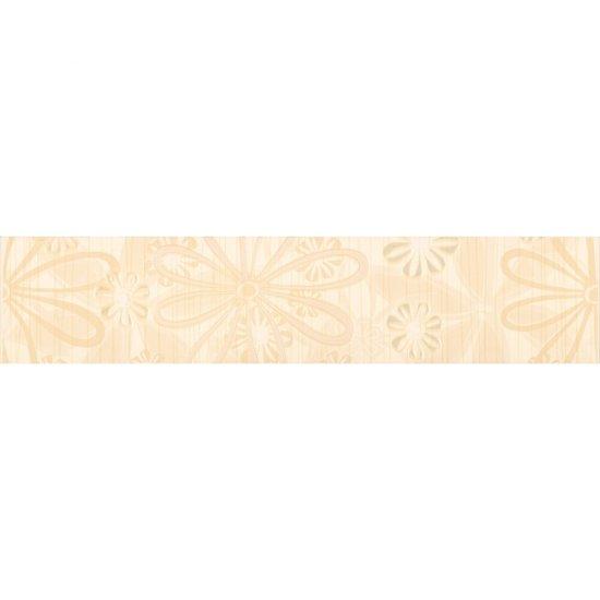Płytka ścienna EUFORIA beżowa listwa kwiatek błyszcząca 8,5x40 gat. I