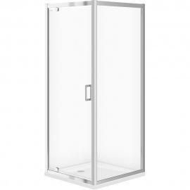 Kabina prysznicowa kwadratowa B152 80x80x190 szkło transparentne z brodzikiem TAKO