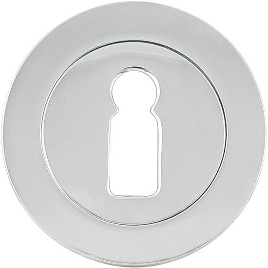 Szyld drzwiowy okrągły 600 klucz chrom lakierowany Domino