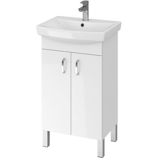 Szafka z umywalką w zestawie A21 CLASO CARINA 50 biała DSM MIX 70%