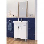 Szafka z umywalką w zestawie A22 CLASO CARINA 60 biała DSM MIX 70%