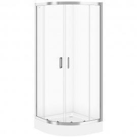 Kabina prysznicowa półokrągła B97 90x190 szkło transparentne z brodzikiem TAKO 90x16