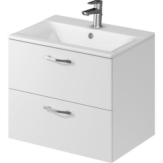 Szafka z umywalką w zestawie B228 KOMFORT ONTARIO 60 biała DSM FSC MIX 70%