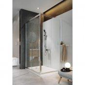 Kabina prysznicowa kwadratowa B153 90x90x190 szkło transparentne z brodzikiem TAKO