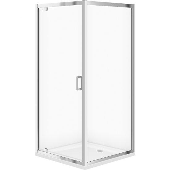 Kabina prysznicowa kwadratowa B153 90x90x190 transparentne z brodzikiem TAKO