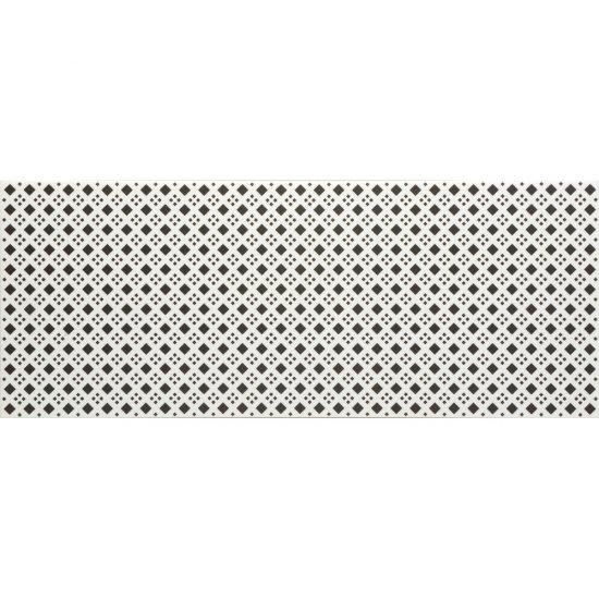 Płytka ścienna BLACK&WHITE czarno-biała wzór D mat 20x50 gat. I