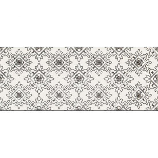 Płytka ścienna BLACK&WHITE biało-czarna wzór E mat 20x50 gat. I