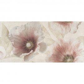 Płytka ścienna FLOSSA beżowa inserto kwiaty 29,7x60 gat. I