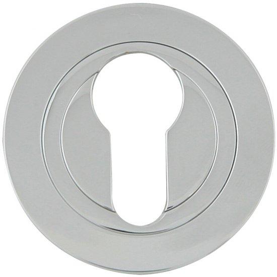Szyld drzwiowy okrągły 980 wkładka bębenkowa chrom lakierowany Domino