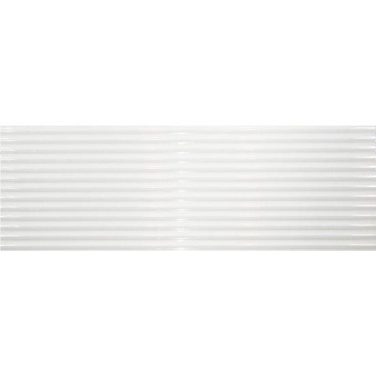 Płytka hiszpańska ścienna ALGECIRAS linie biały 30x90