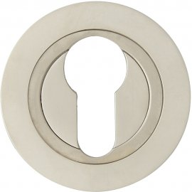 Szyld drzwiowy okrągły 980 wkładka bębenkowa nikiel satyna Domino