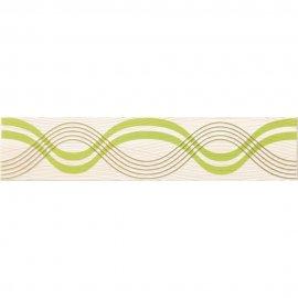 Płytka ścienna FELINA zielona listwa geo błyszcząca 8,5x40 gat. I