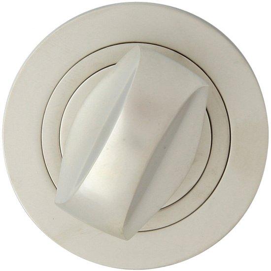 Szyld drzwiowy okrągły 980 WC nikiel satyna Domino