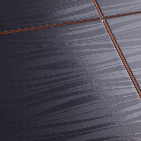 Płytka ścienna LUNA czarna mat 25x35 gat. I