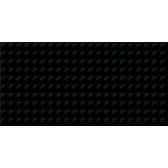 Płytka ścienna ORIGAMI DUNE PULSE czarna struktura błyszcząca 29,7x60 gat. I