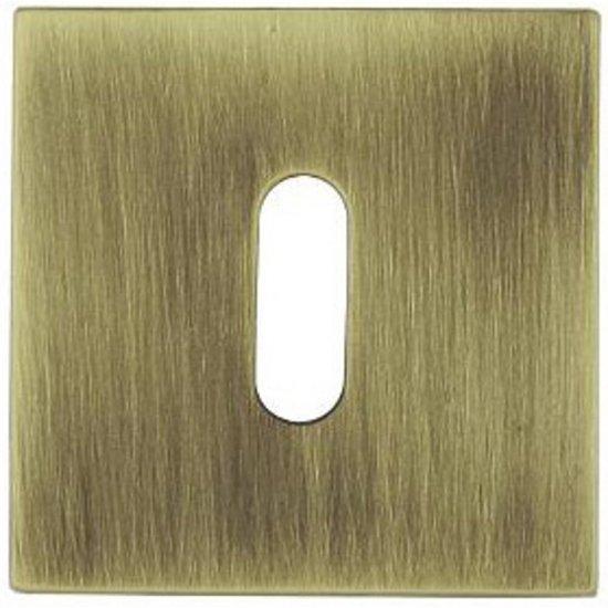 Szyld drzwiowy kwadratowy KWADRAT-QR klucz brąz mat TUPAI