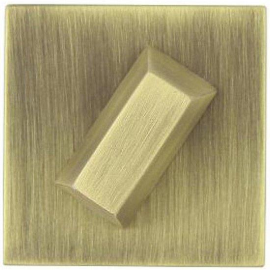 Szyld drzwiowy kwadratowy KWADRAT-QR WC brąz mat TUPAI