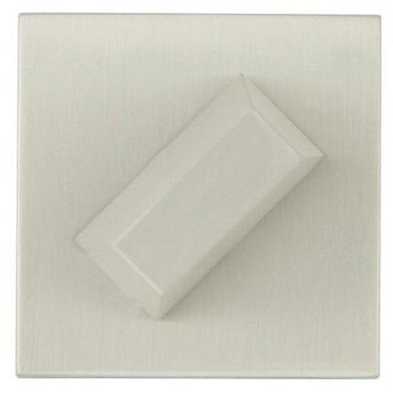 Szyld drzwiowy kwadratowy KWADRAT-QR WC nikiel lakierowany TUPAI